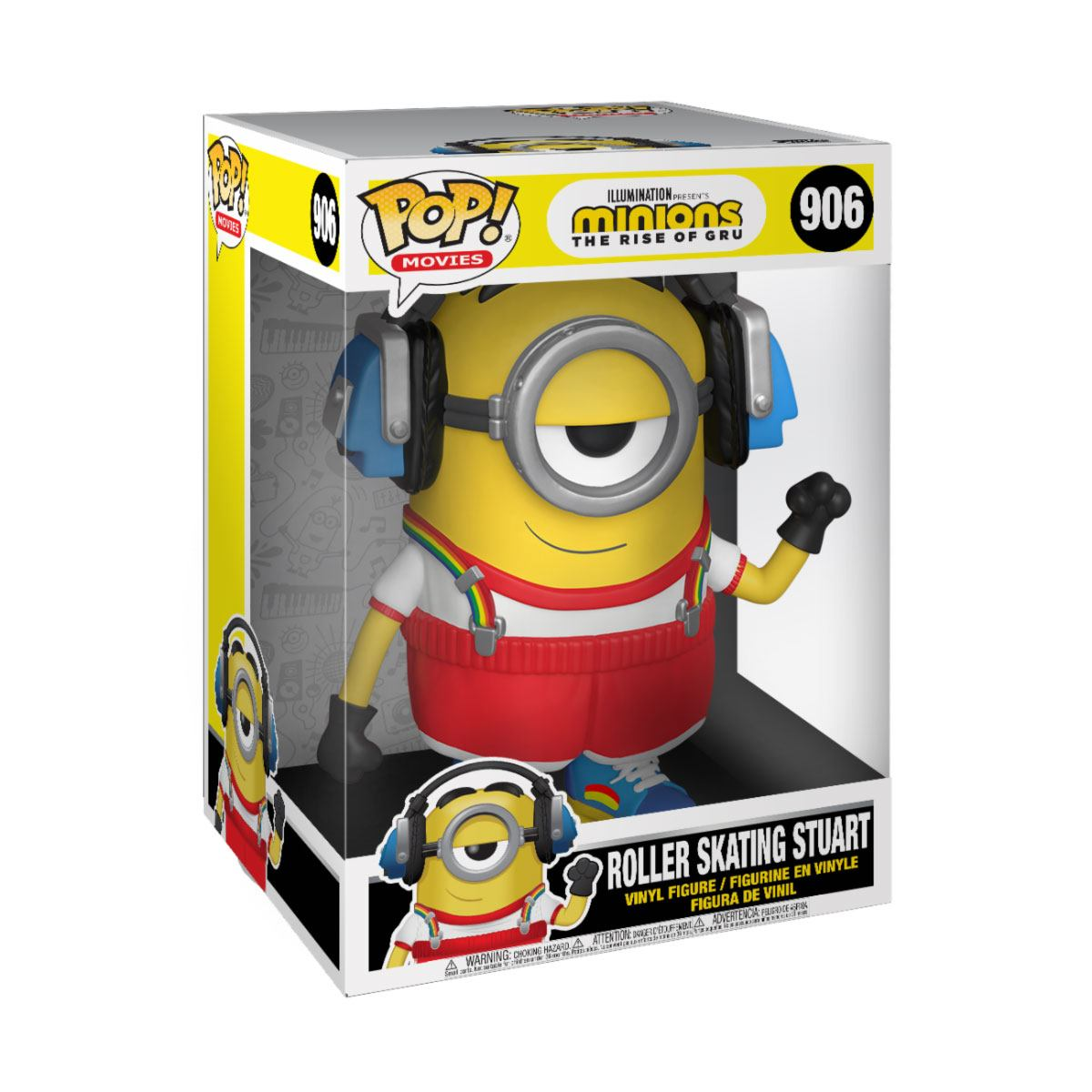Minions II: The Rise of Gru Supersized POP! Movies Vinyl Figure Roller Skating Stuart 25 cm