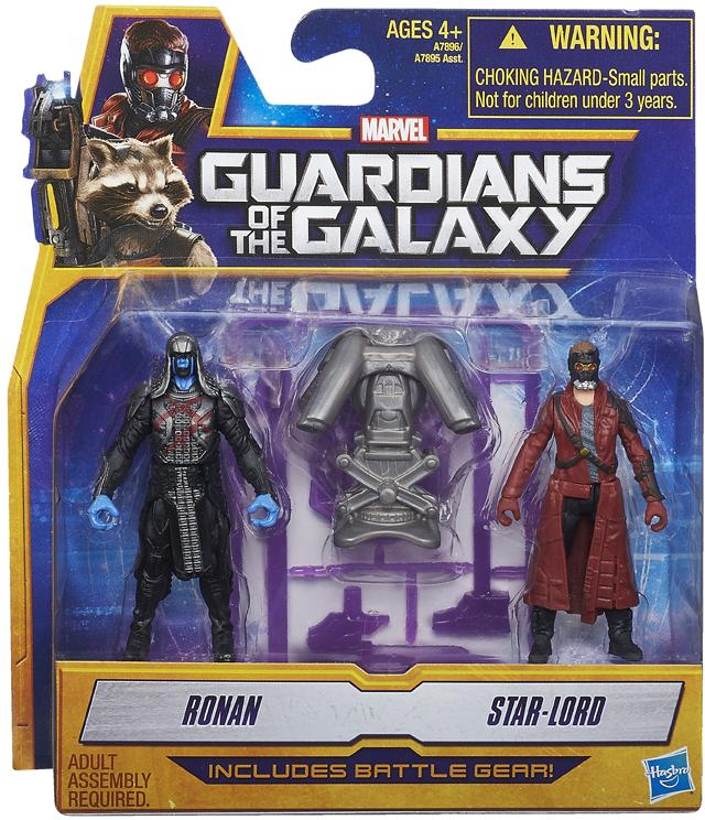 Guardians of the Galaxy Action Figure 2-Packs 6 cm Ronan e Peter Quill
