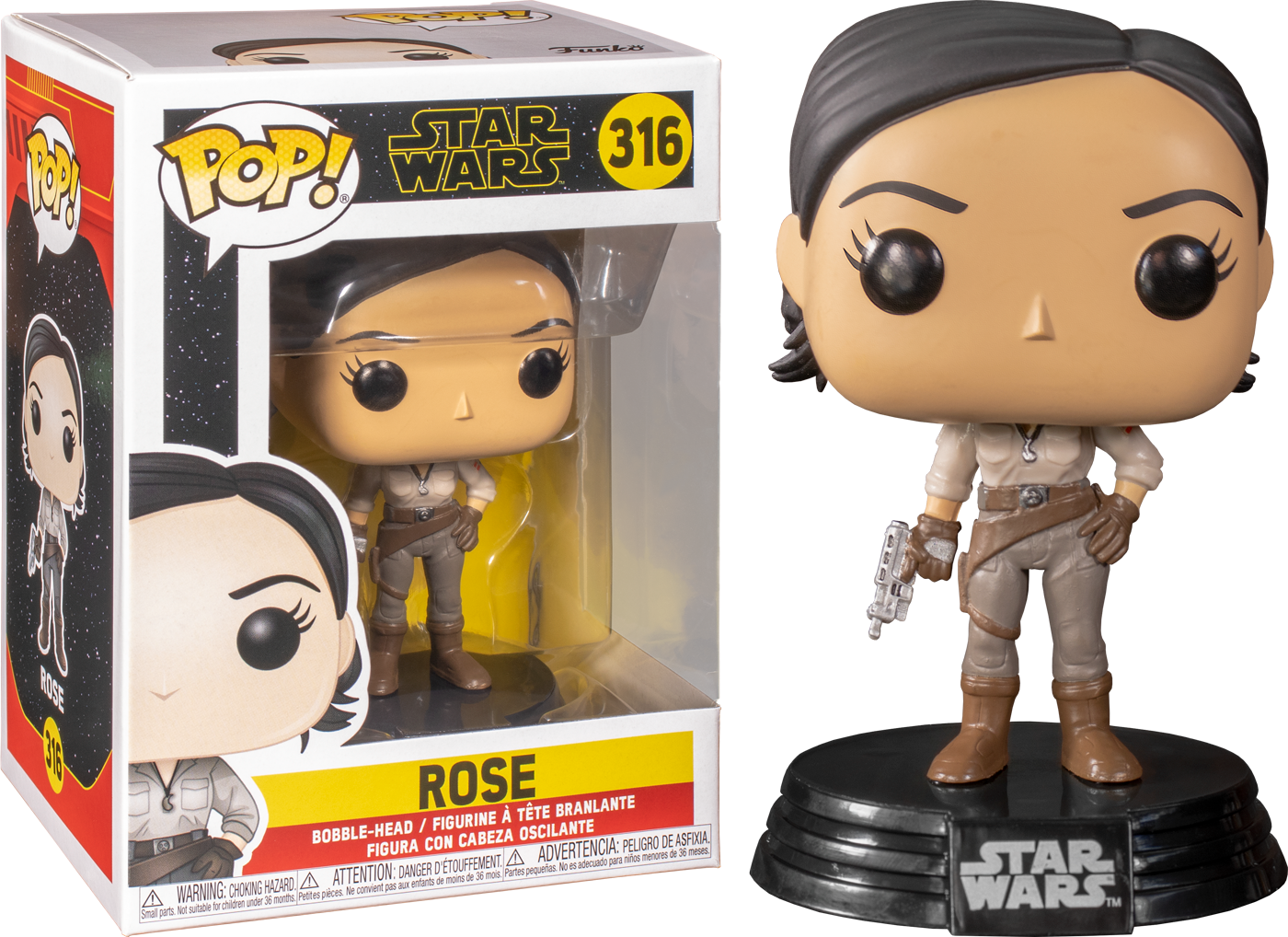 Star Wars Episode IX POP! Movies Vinyl Figure Rose 9 cm