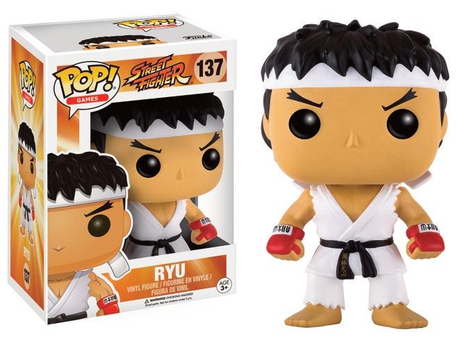 Street Fighter POP! Games Vinyl Figure Ryu White Headband 9 cm