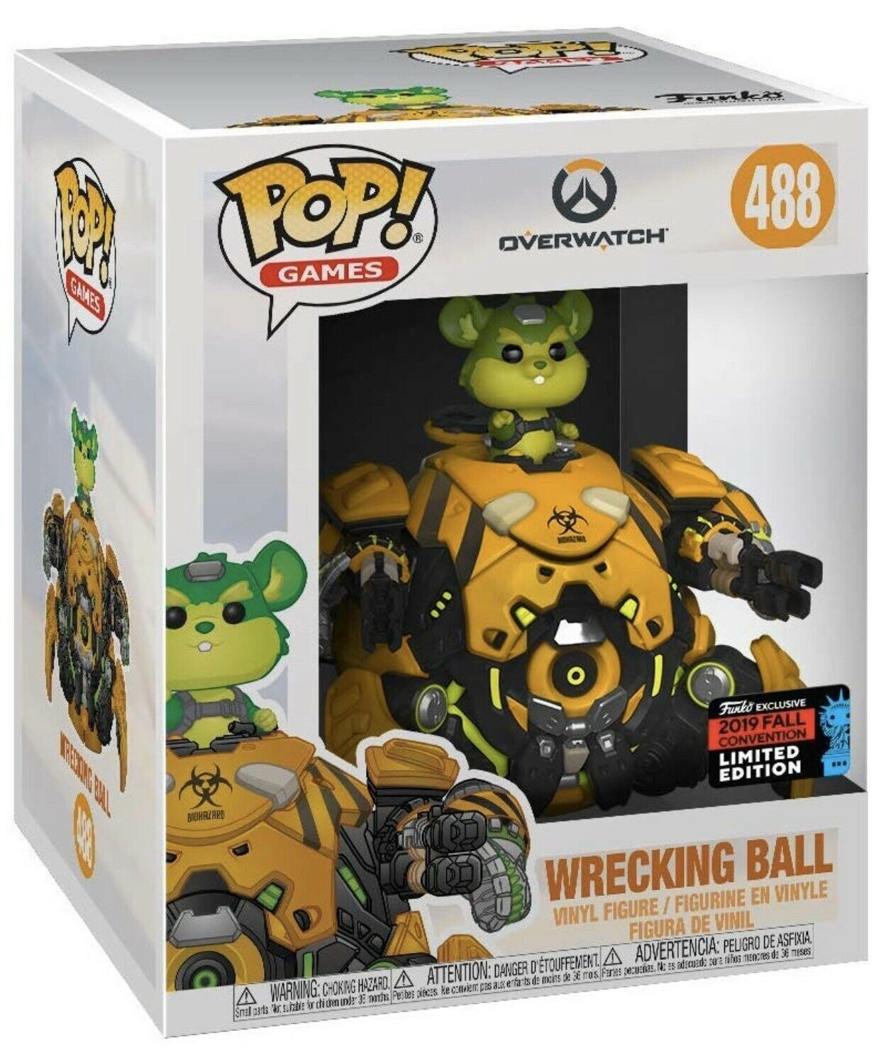 """Overwatch - Toxic Wrecking Ball 6"""" Super Sized Pop! Vinyl Figure (2019 Fall Convention Exclusive)"""