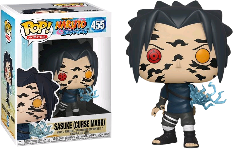 Naruto Shippuden POP! Animation Vinyl Figure Sasuke with cursed mark Limited 9 cm