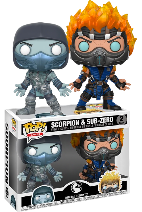 Mortal Kombat POP! Games 2-pack Figures Scorpion and Sub-Zero Limited 9 cm