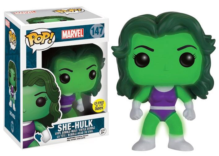 Marvel Comics POP! Marvel Vinyl Figure She-Hulk GITD 9 cm