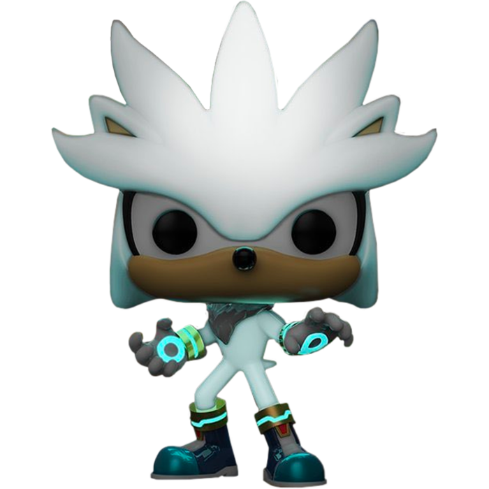 Sonic the Hedgehog POP! Games Vinyl Figure Sonic 30th - Silver the Hedgehog Glow in the Dark Limited 9 cm