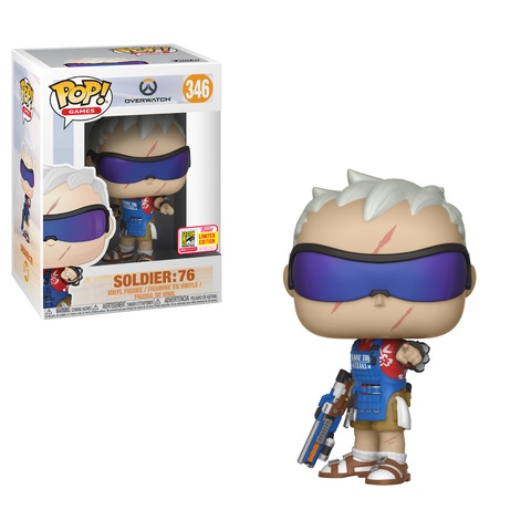 Overwatch POP! Games Vinyl Figure Grillmaster Soldier: 76 2018 Summer Convention Exclusive 9 cm