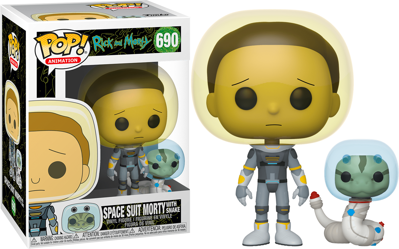 Rick & Morty POP! Animation Vinyl Figure Space Suit Morty 9 cm