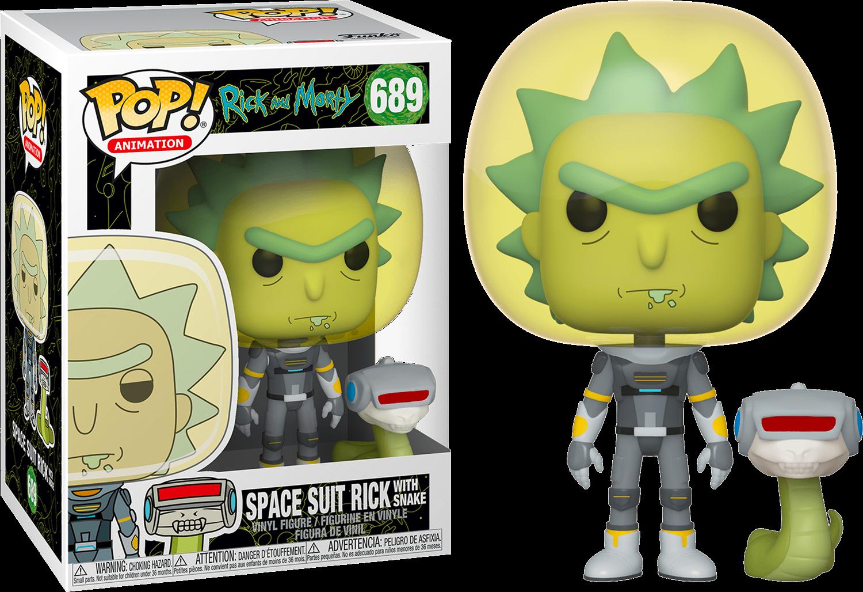 Rick & Morty POP! Animation Vinyl Figure Space Suit Rick 9 cm