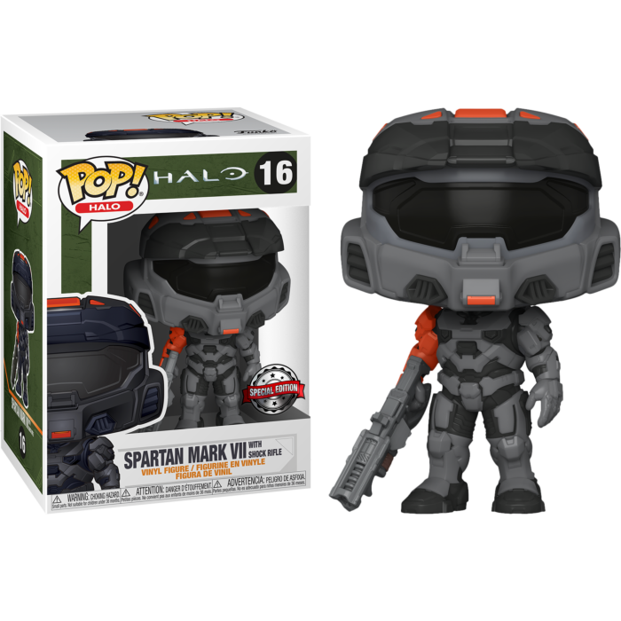 Halo Infinite POP! Games Vinyl Figure Spartan Mark VII with Shock Rifle  Limited 9 cm
