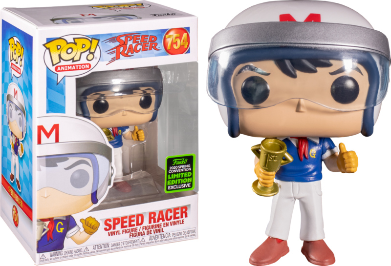 Speed Racer POP! Animation Figures Speed Racer with Trophy Limited 9 cm (con bollino Spring Convention 2020)