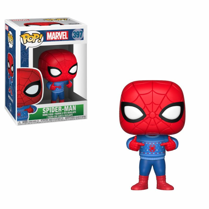 Marvel Comics POP! Marvel Holiday Vinyl Bobble-Head Spider-Man (Ugly Sweater) 9 cm