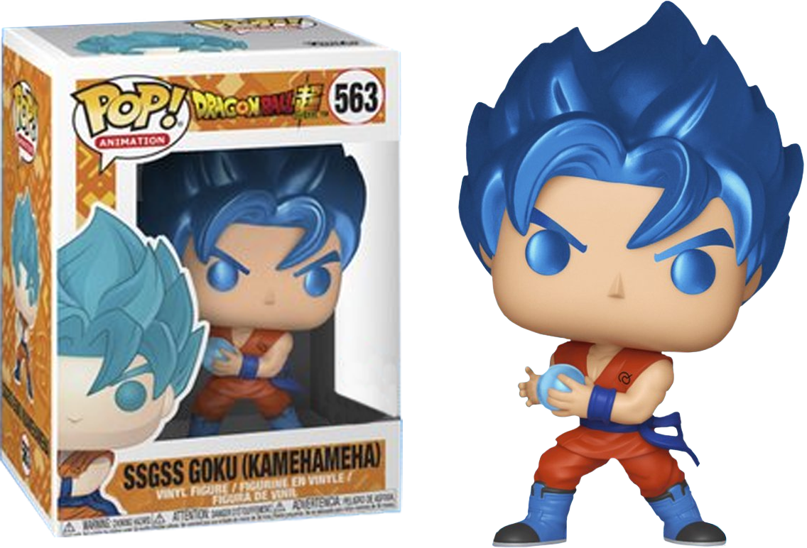 Dragonball Super POP! Animation Vinyl Figure SSGSS Goku Kamehameha Metallic Limited 9 cm (con bollino Special Edition)