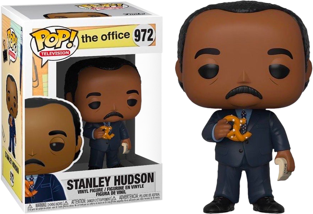 The Office POP! Vinyl Figure Stanley Hudson with Pretzel Limited 9 cm