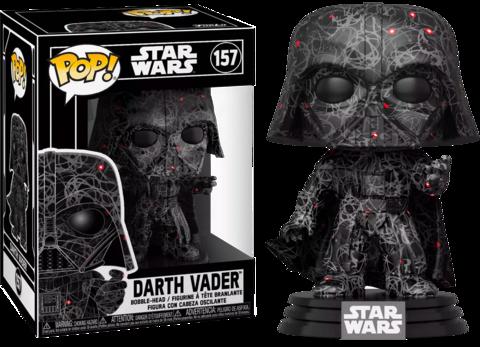 Star Wars POP!  Vinyl Figure Darth Vader Futura with Pop Protector Limited Edition 9 cm