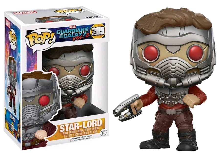 Guardians of the Galaxy 2 POP! Marvel Vinyl Bobble-Head Star-Lord (Masked) 9 cm