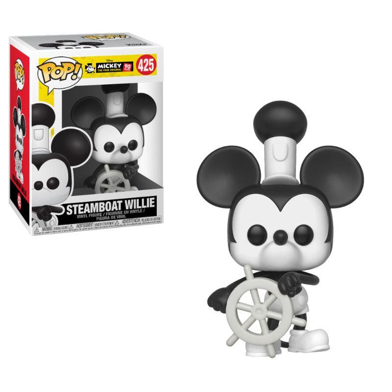 Mickey Mouse 90th Anniversary POP! Disney Vinyl Figure Steamboat Willie 9 cm