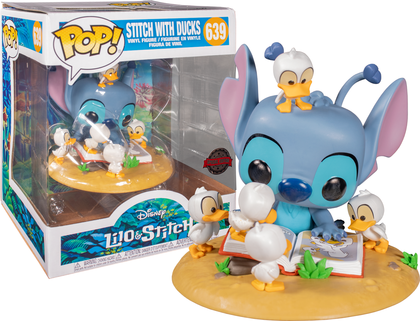 Lilo & Stitch POP! Disney Deluxe Vinyl Figure Stitch with Ducks Limited 9 cm