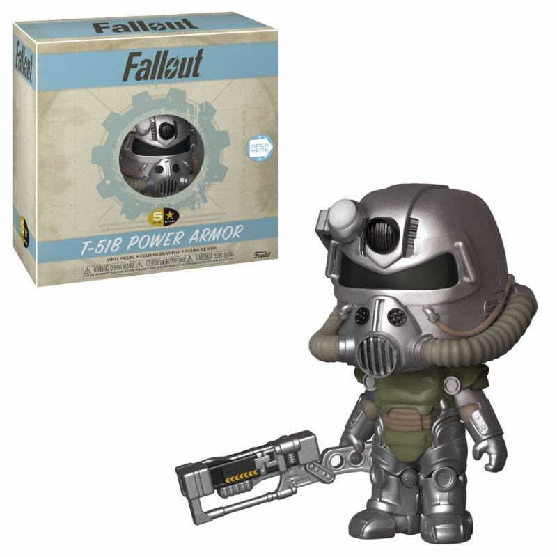 Fallout 5-Star Vinyl Figure T-51 Power Armor 8 cm