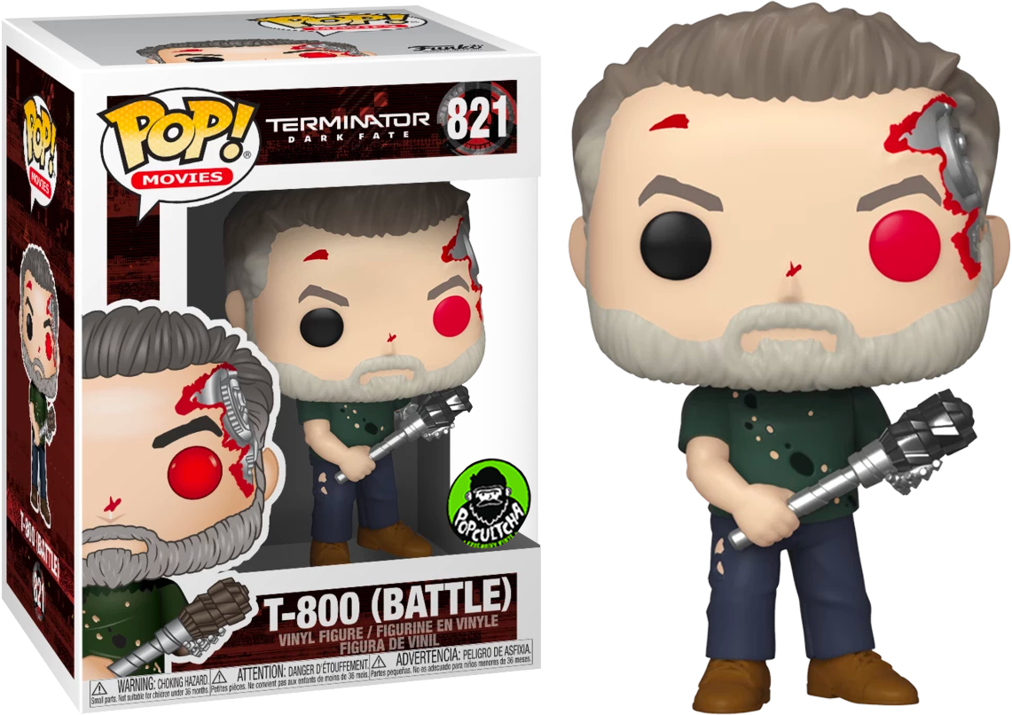 Terminator: Dark Fate POP! Movies Vinyl Figure T-800 Battle Damaged Limited 9 cm
