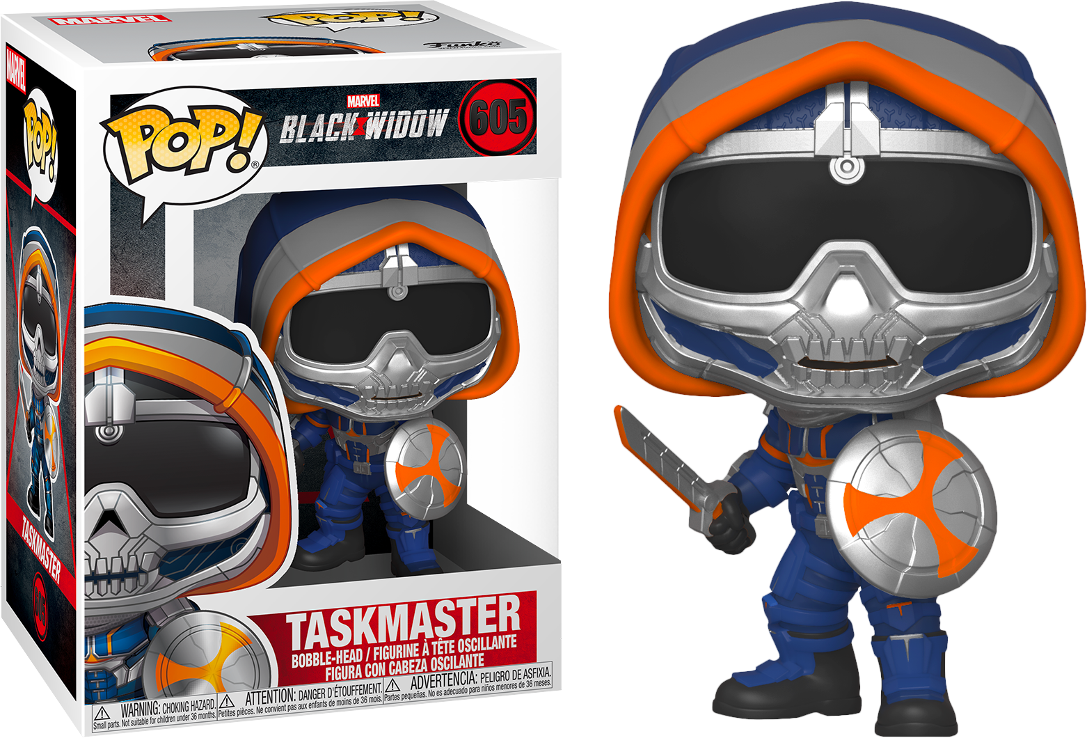 Black Widow POP! Marvel Vinyl Figure Taskmaster w/ Shield 9 cm