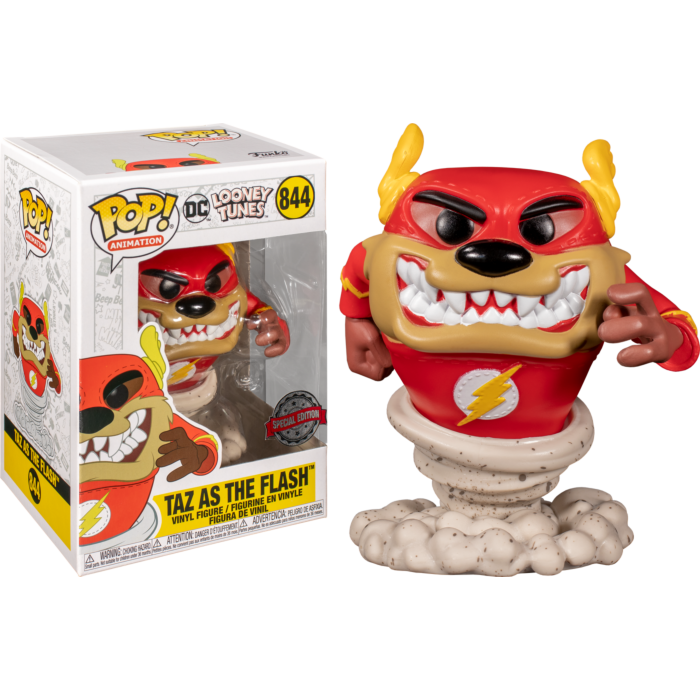 Looney Tunes POP! Television Vinyl Figure Taz as The Flash Limited 9 cm