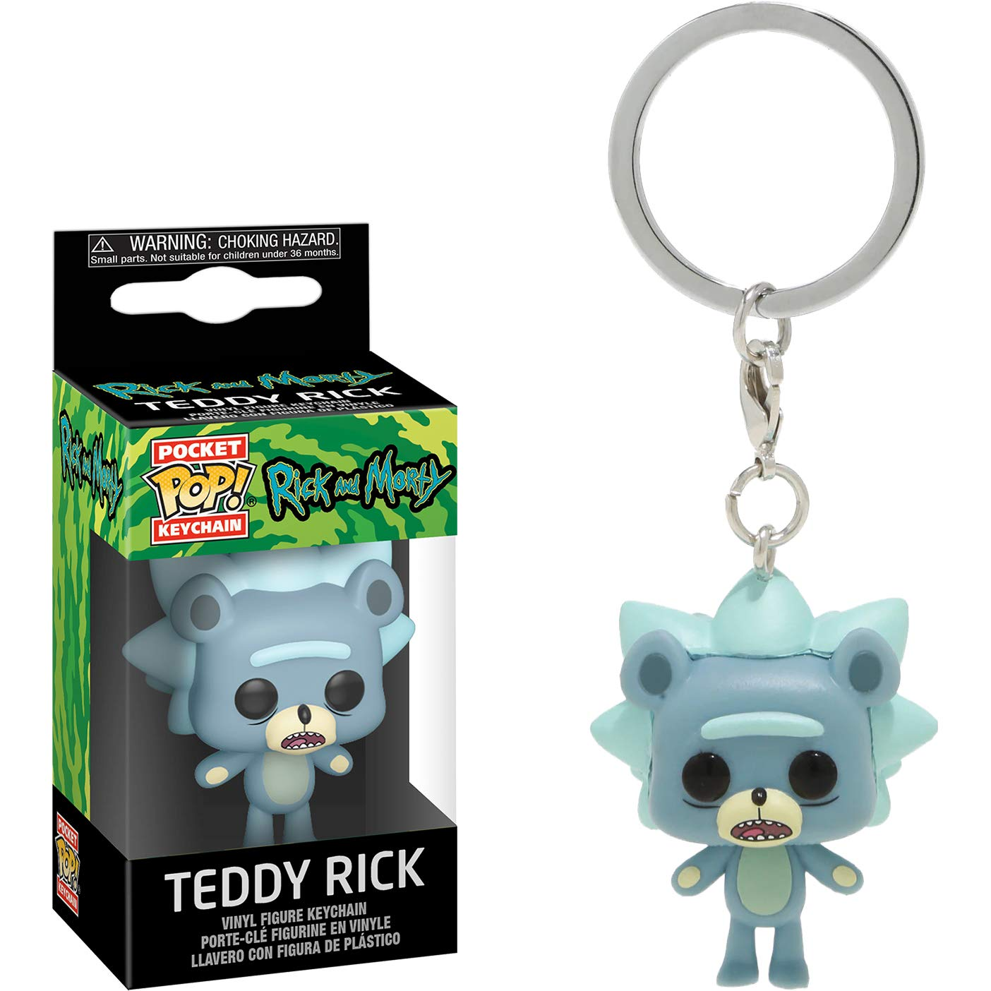 Rick & Morty Pocket POP! Vinyl Keychain Teddy Rick 4 cm