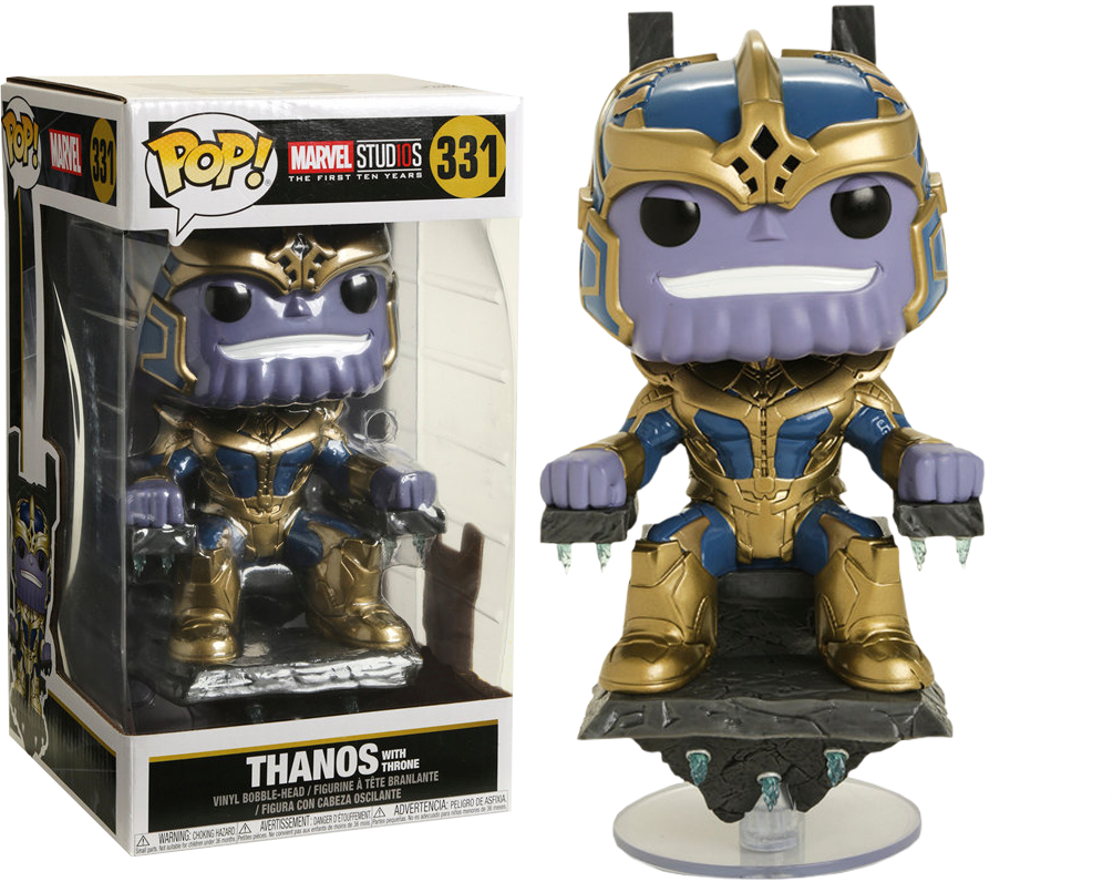 Marvel Studios The First Ten Years! Marvel Vinyl Deluxe Figure Thanos on Throne 20 cm (con bollino Hot Topic)