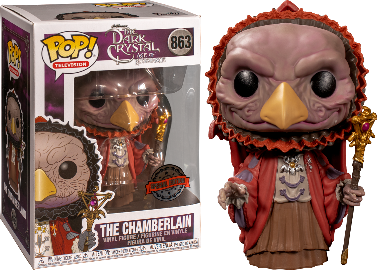 The Dark Crystal: Age of Resistance POP! TV Vinyl Figure The Chamberlain Limited 9 cm