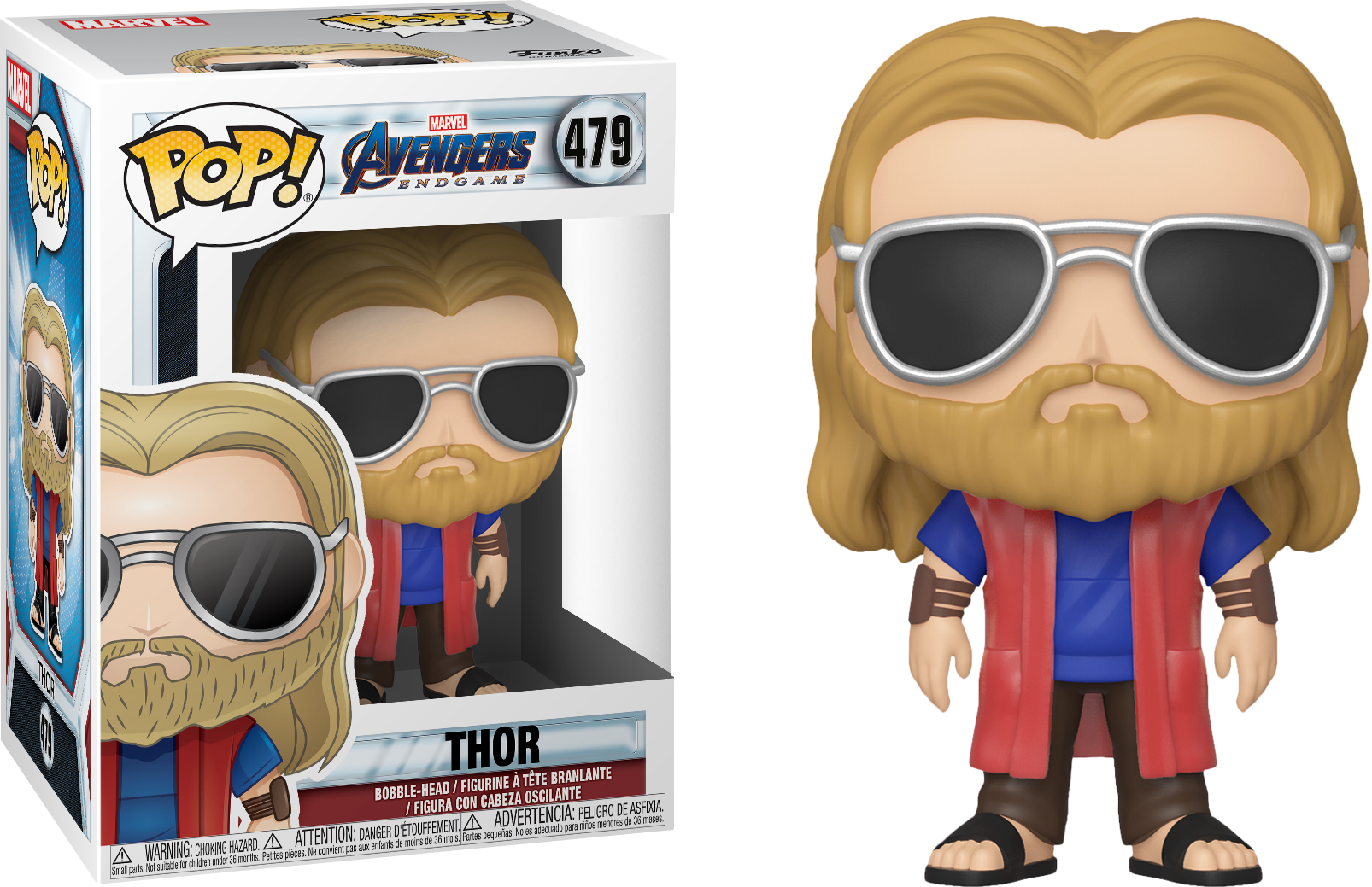 Avengers Endgame POP! Movies Vinyl Figure Thor Casual 9 cm