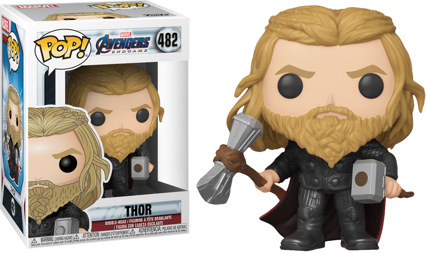 Avengers Endgame POP! Movies Vinyl Figure Thor with Hammer and Stormbreaker 9 cm Limited