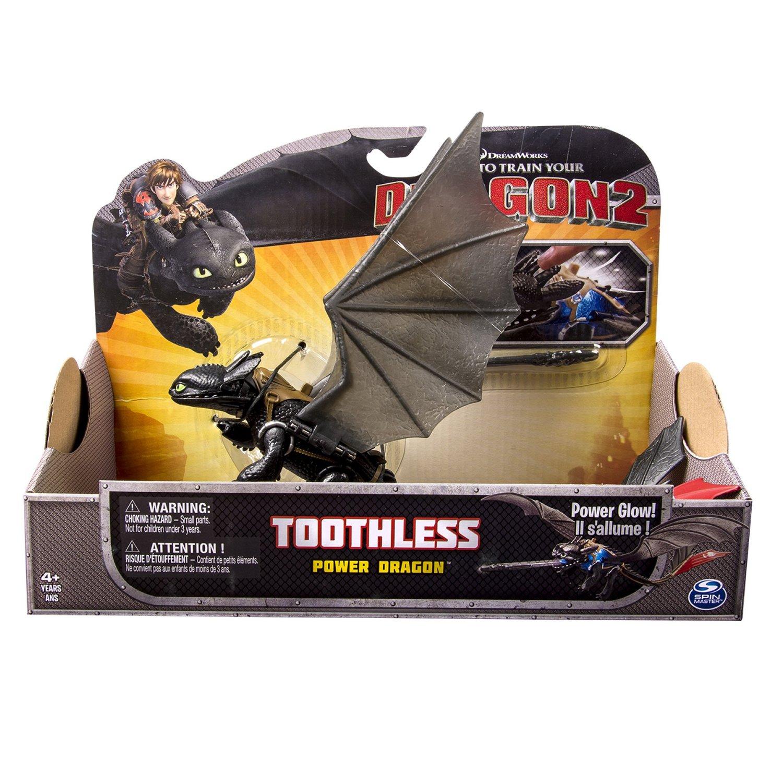 Dragon Trainer 2 Toothless (Sdentato) Action Figure (con sella)