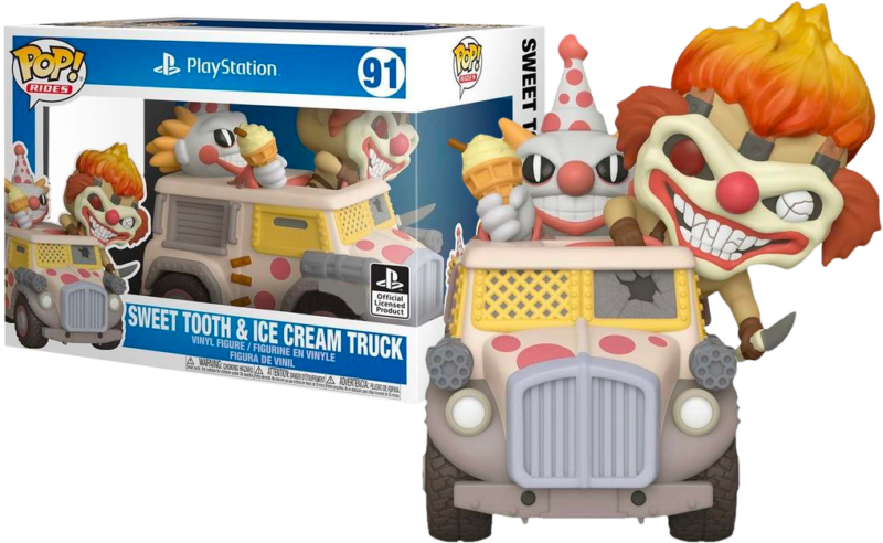 Twisted Metal POP! Rides Vinyl Figure Needles Kane with Sweet Tooth Ice Cream Truck Limited