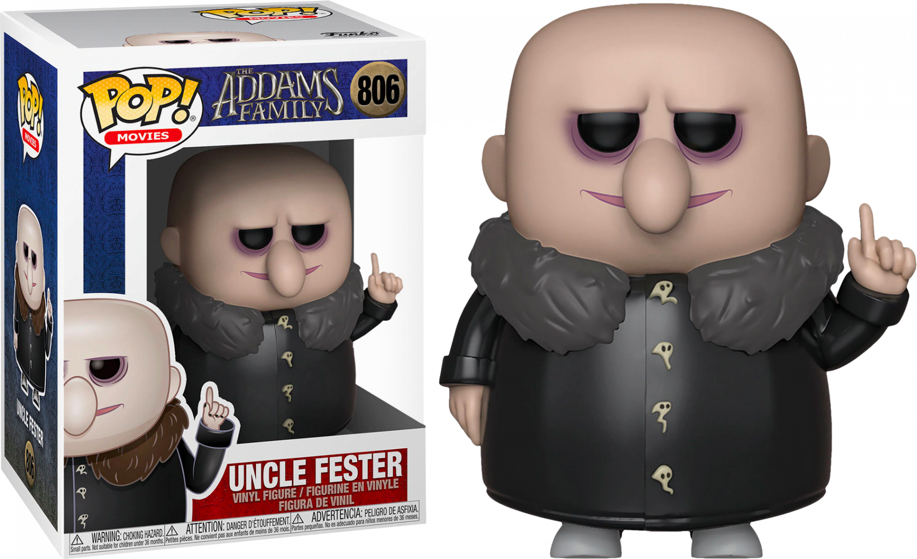 The Addams Family (2019) POP! Movies Vinyl Figure Uncle Fester 9 cm
