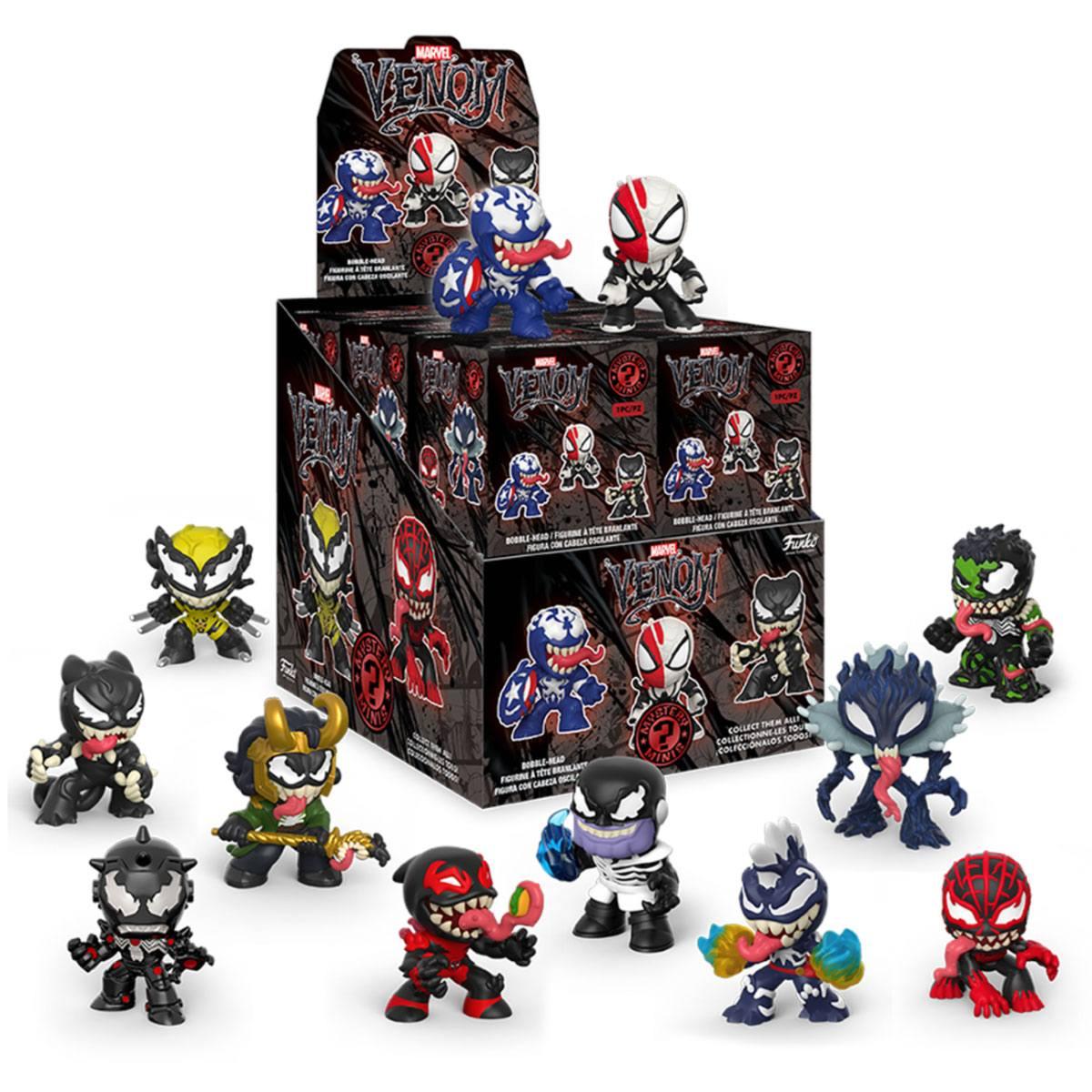 Marvel Venom Mystery Minis Vinyl Mini Figures 6 cm Display (12)