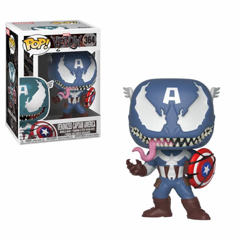 Venom POP! Marvel Vinyl Bobble-Head Venomized Captain America 9 cm