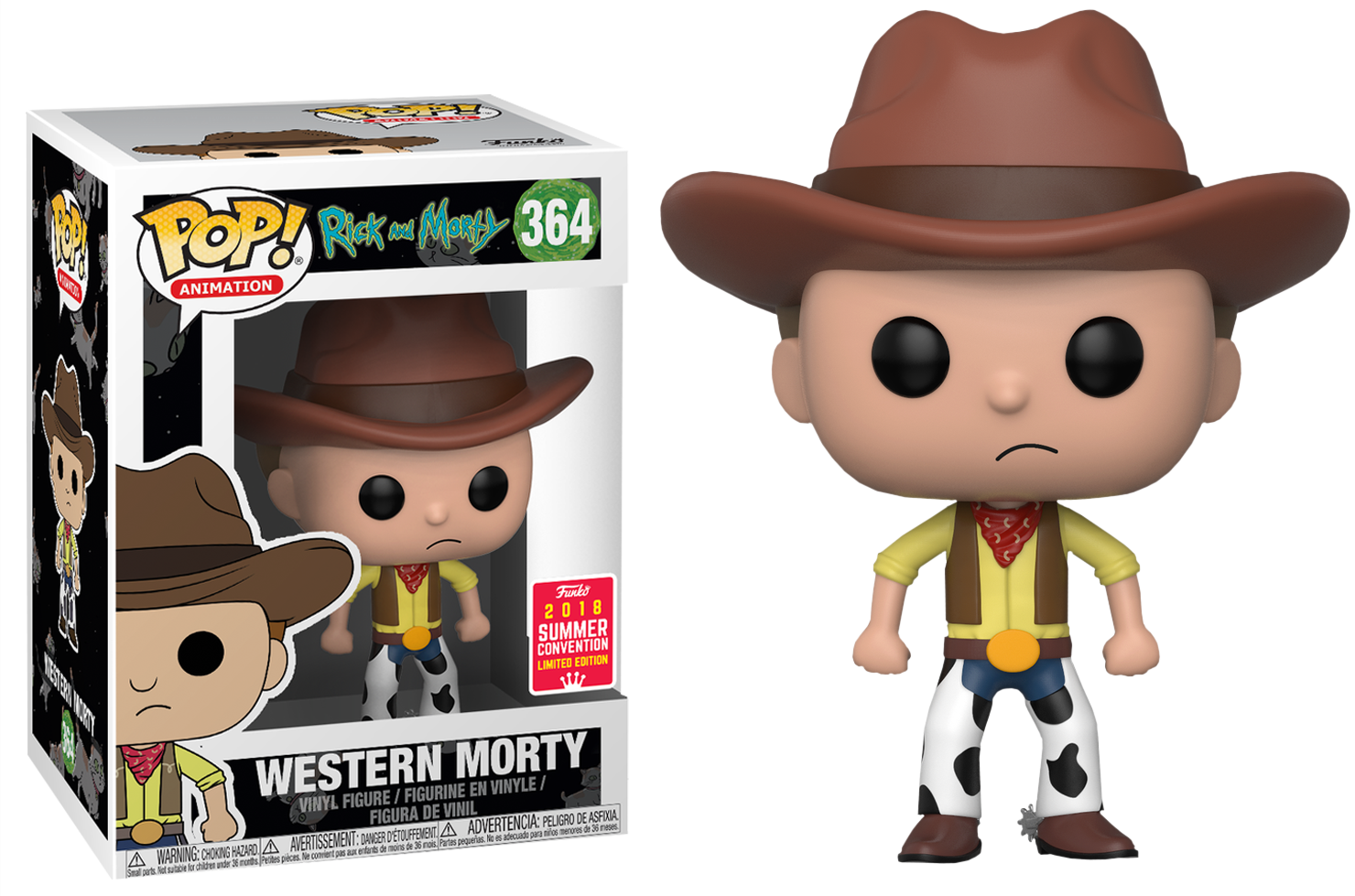 Rick & Morty POP! Animation Vinyl Figure Western Morty 2018 Summer Convention Exclusive 9 cm