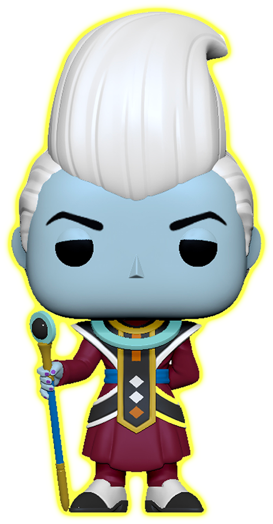 Dragon Ball Super POP! Animation Vinyl Figure Whis Glow in the Dark Limited 9 cm (con bollino Galactic Toys Exclusive)