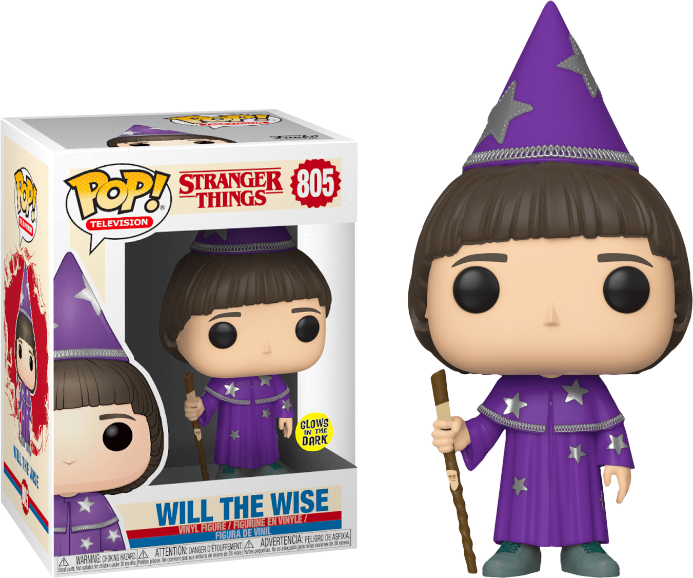 Stranger Things POP! TV Vinyl Figure Will (the Wise) Glow in the Dark Limited 9 cm