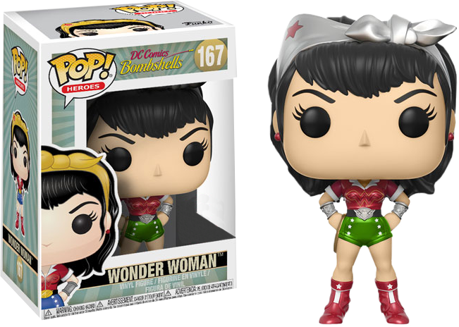 DC Comics Bombshells POP! Heroes Vinyl Figure Wonder Woman Holiday Limited 9 cm
