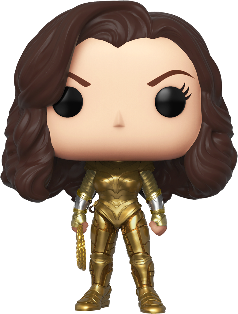 Wonder Woman 1984 POP! Movies Vinyl Figure Wonder Woman Gold Armour with no wings Limited 9 cm