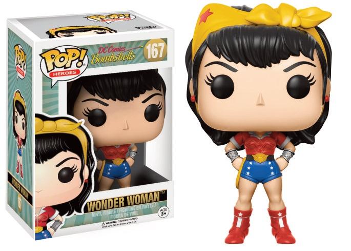 DC Comics Bombshells POP! Heroes Vinyl Figures 9 cm Wonder Woman