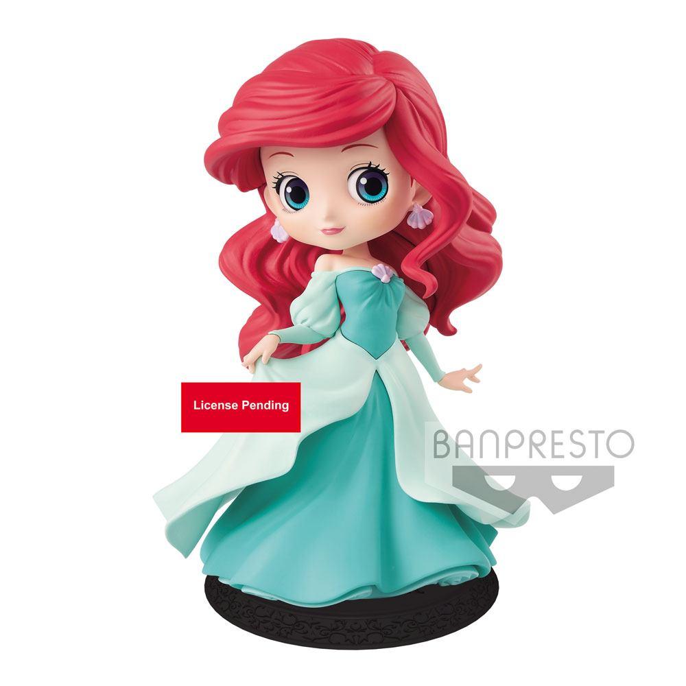 Disney Q Posket Mini Figure Ariel Princess Dress A (Green Dress) 14 cm