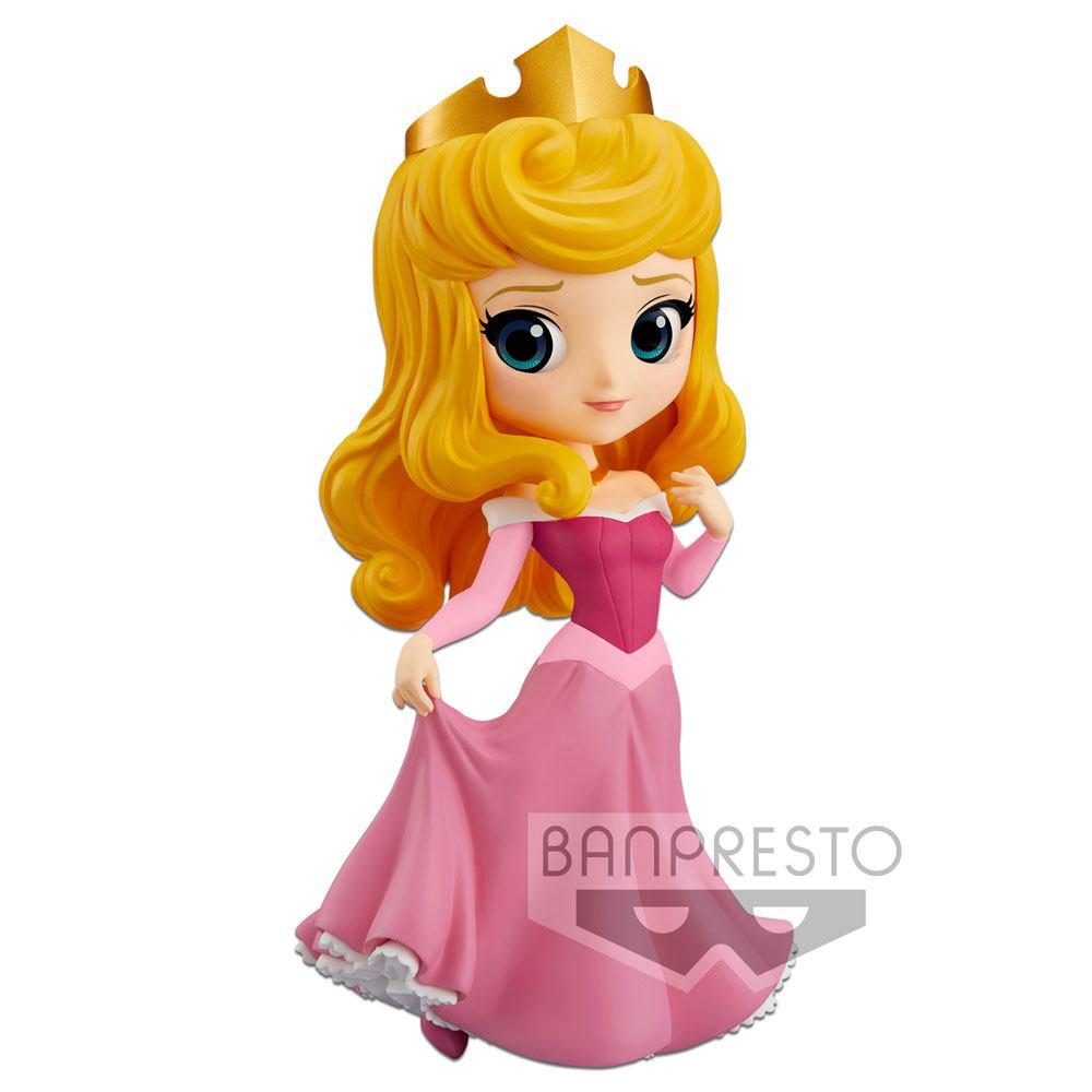 Disney Q Posket Mini Figure Princess Aurora A (Pink Dress) 14 cm