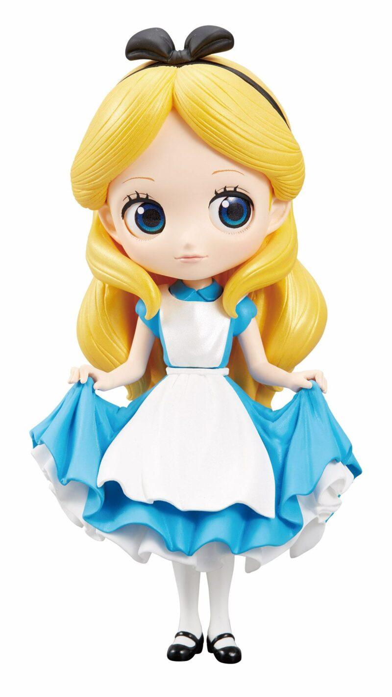 Disney Q Posket Mini Figure Alice A Normal Color Version 14 cm