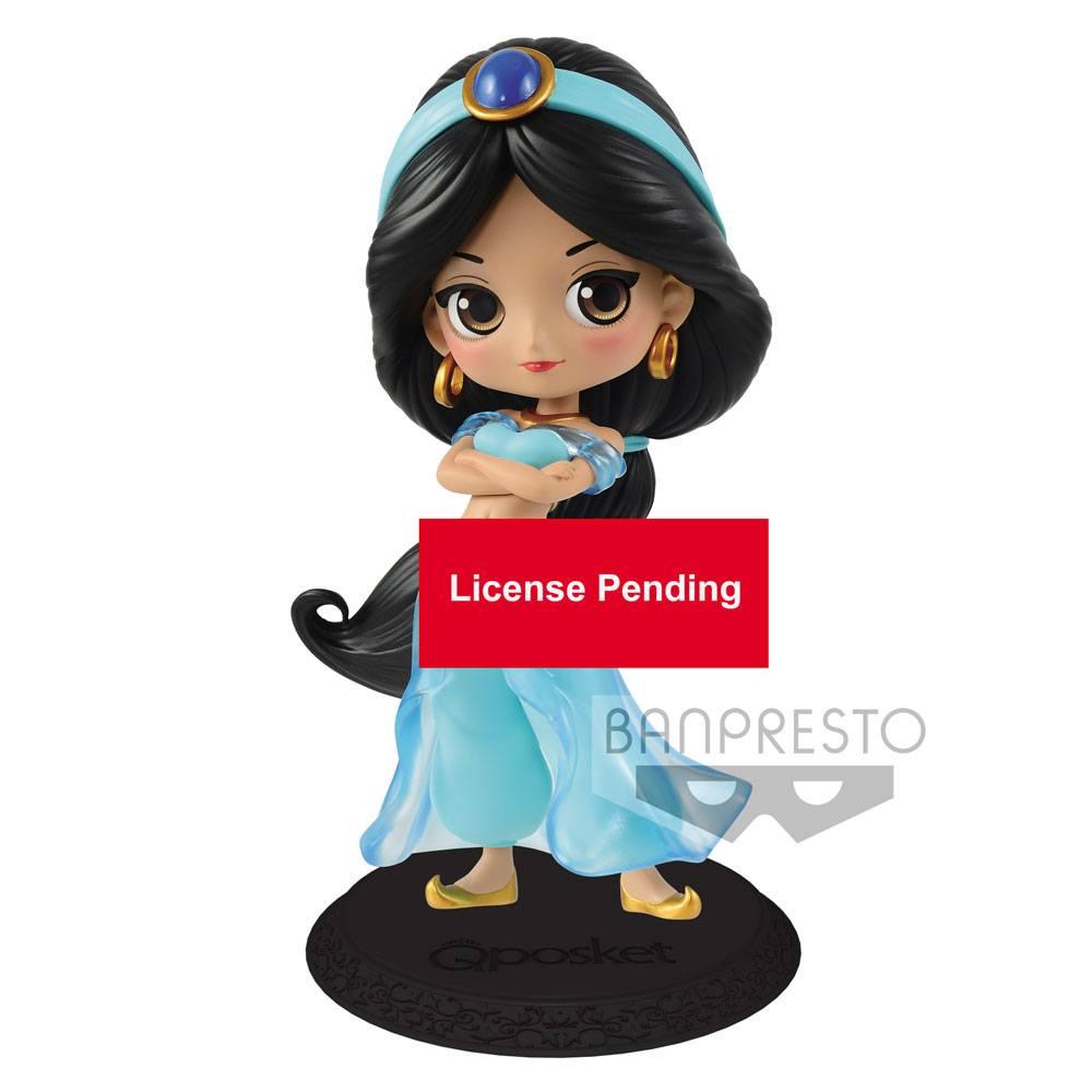 Disney Q Posket Mini Figure Jasmine Princess Style Normal Color Ver. 14 cm