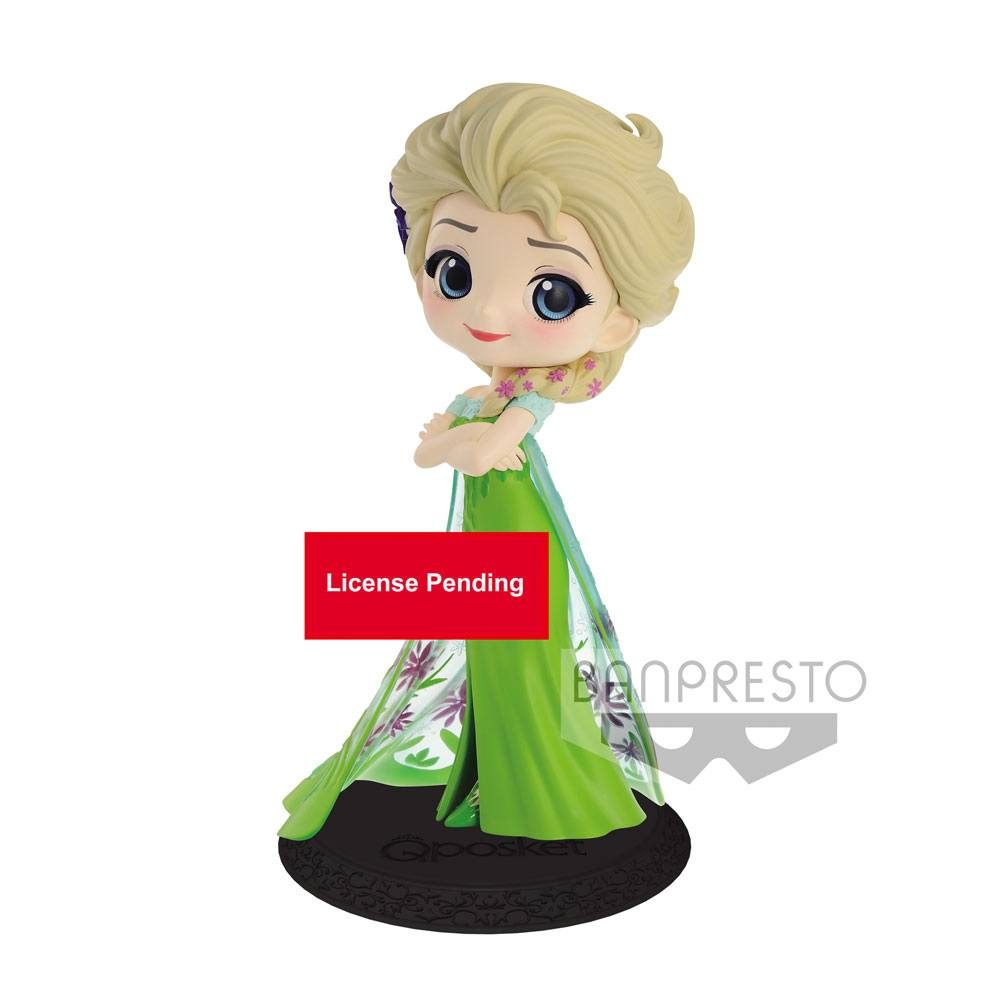 Disney Q Posket Mini Figure Elsa Surprise Coordinate Ver. A 14 cm