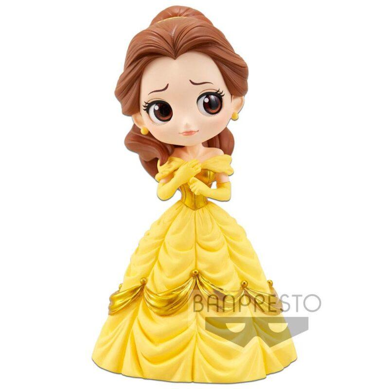 Disney Q Posket Mini Figure Belle A Normal Color Version 14 cm