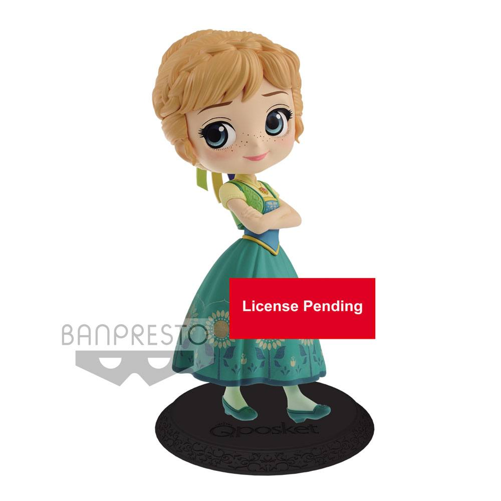 Disney Q Posket Mini Figure Anna Surprise Coordinate Ver. B 14 cm