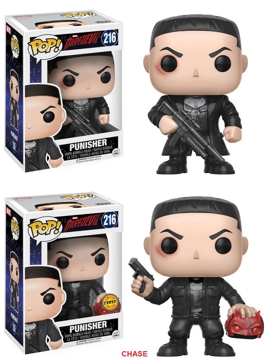 Daredevil POP! Marvel Bobble-Head Figures Punisher 9 cm Assortment (2)