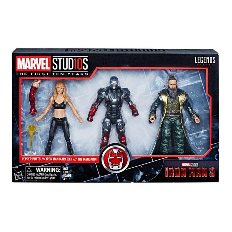 Iron Man 3 Marvel Legends Series Action Figure 3-Pack Pepper, Mark XXII & Mandarin 15 cm